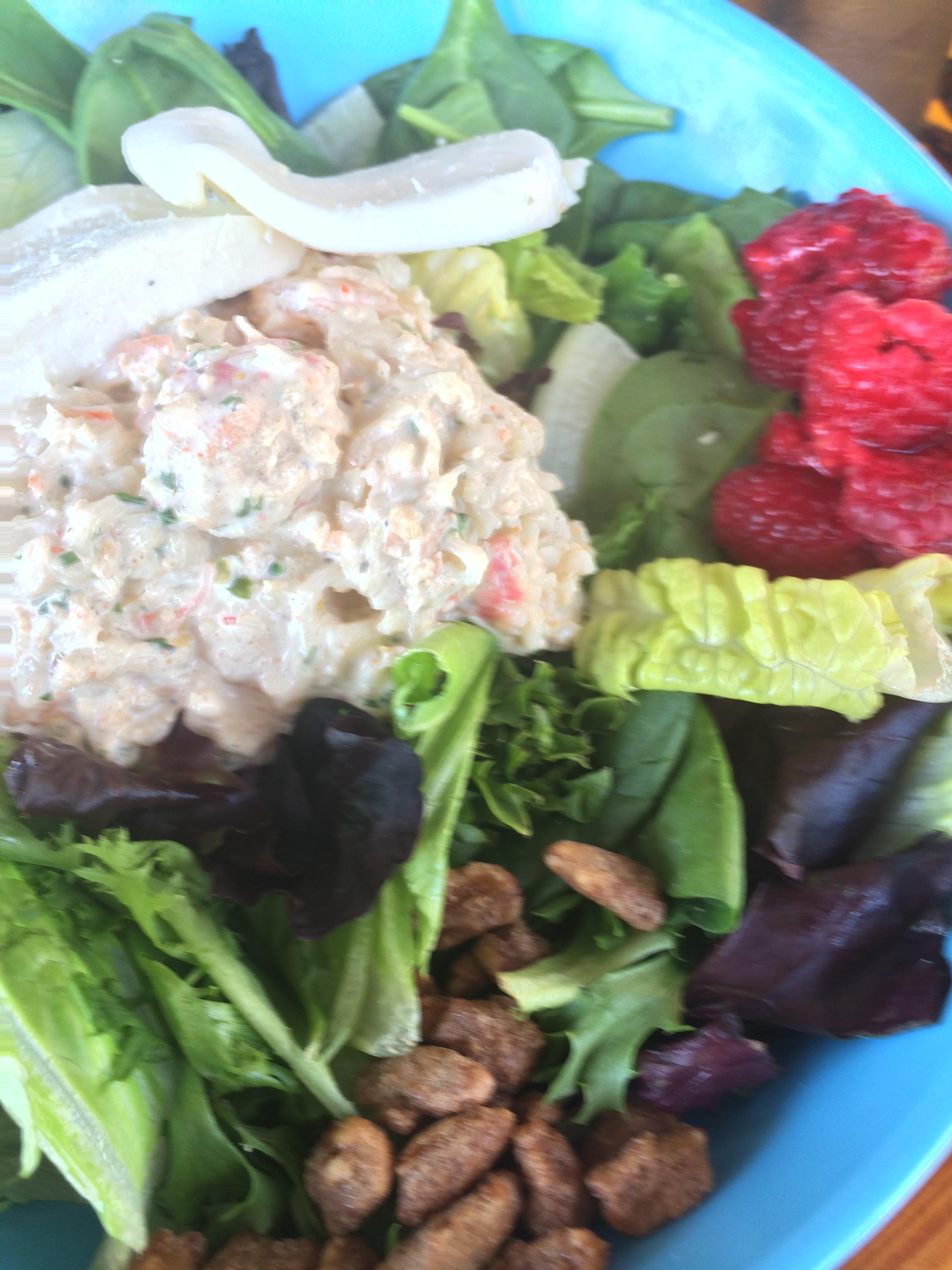 Hello beautiful seafood salad!
