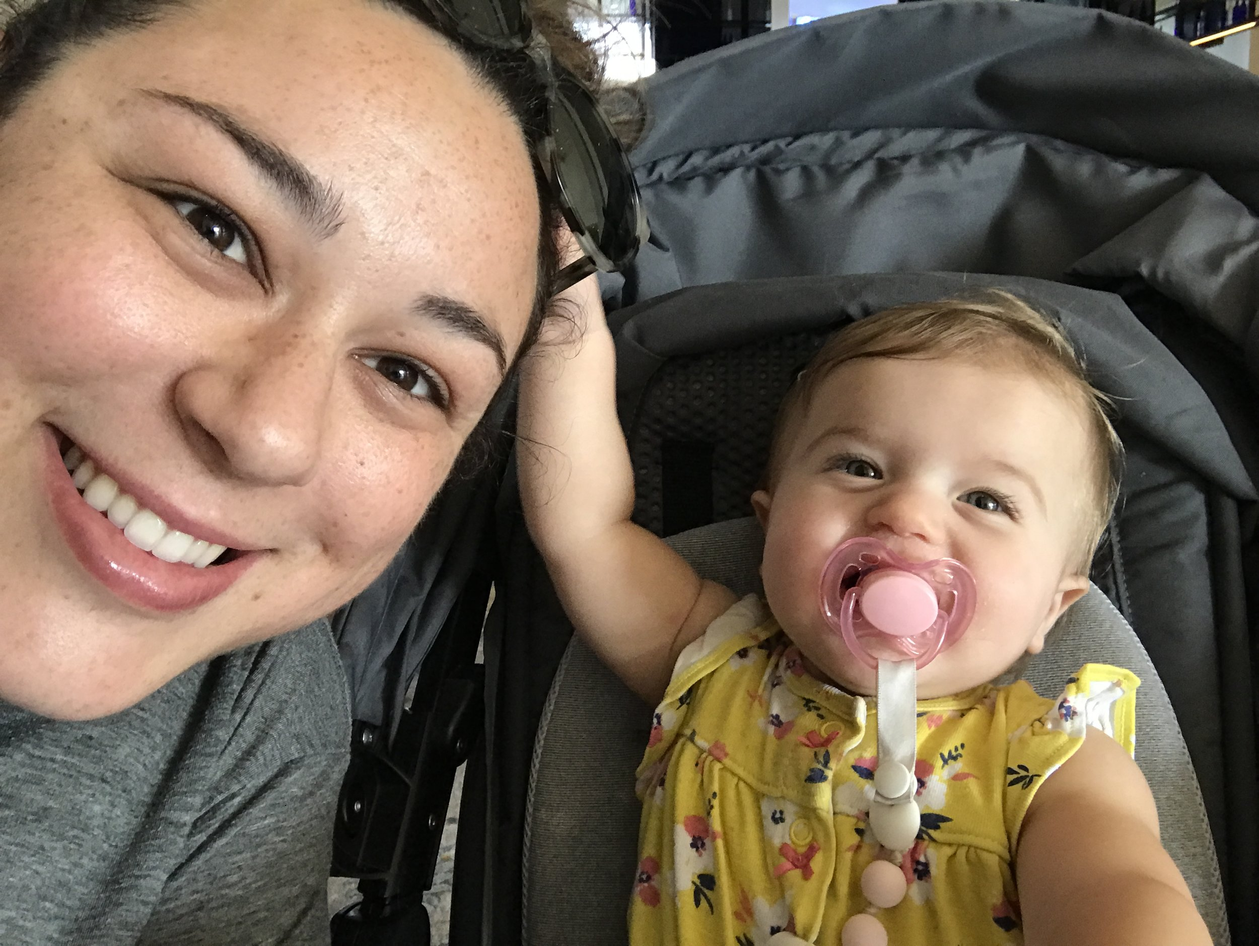 Enjoying the start of our vacation taking selfies!
