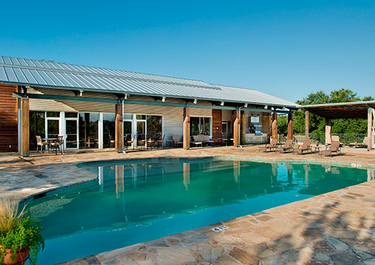 Clubhouse and Pool Amenities at Trails of Horseshoe Bay