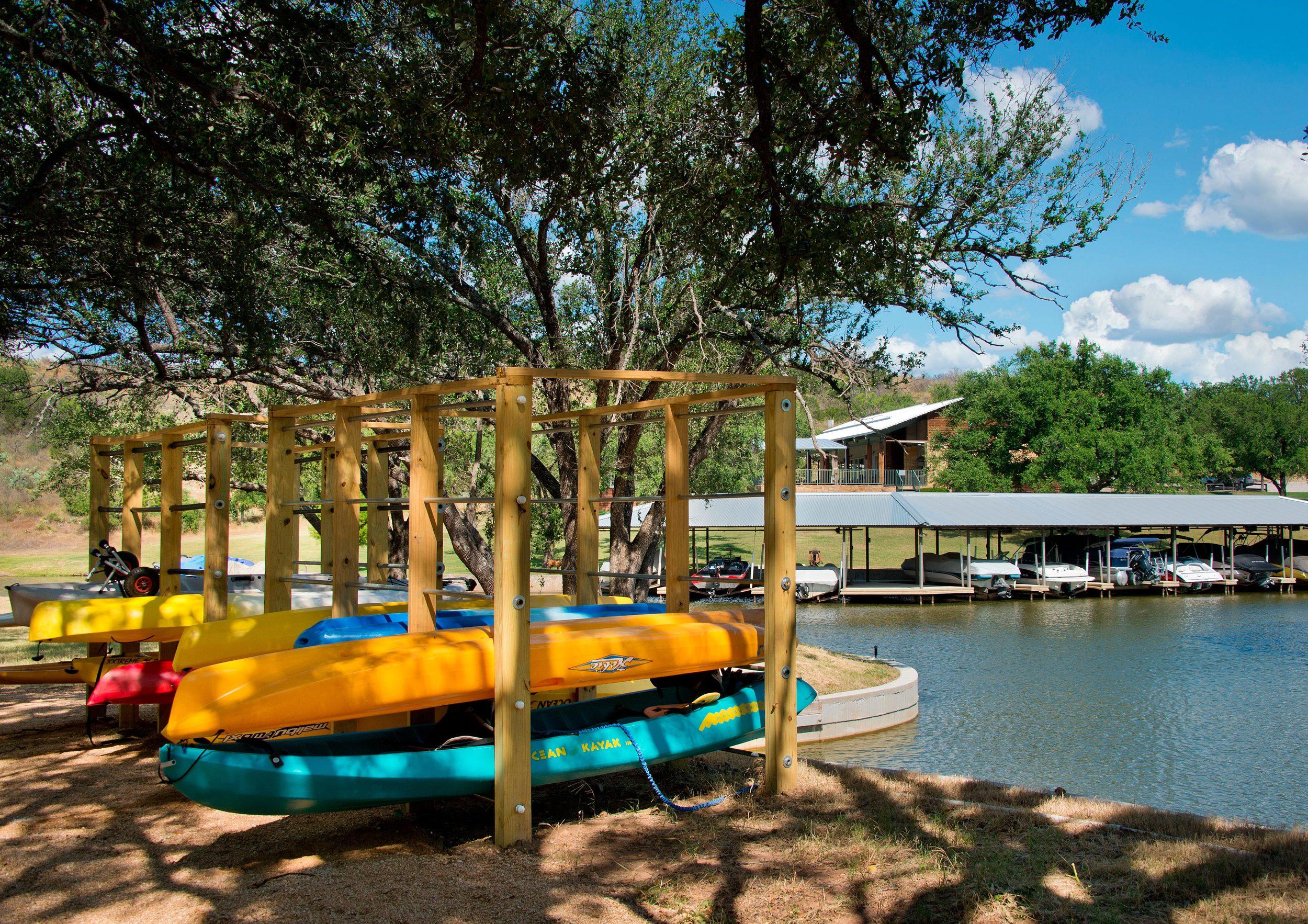 Kayak and Paddle Board Storage at the Marina