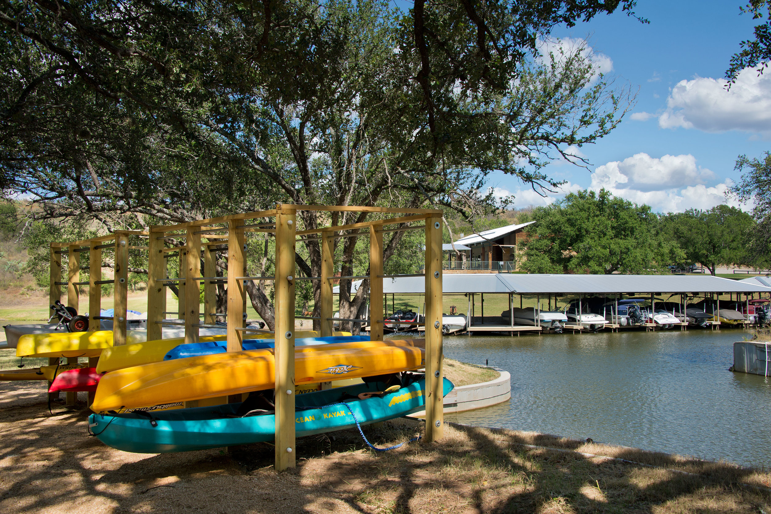 Marina with Kayak Storage and Easy Access