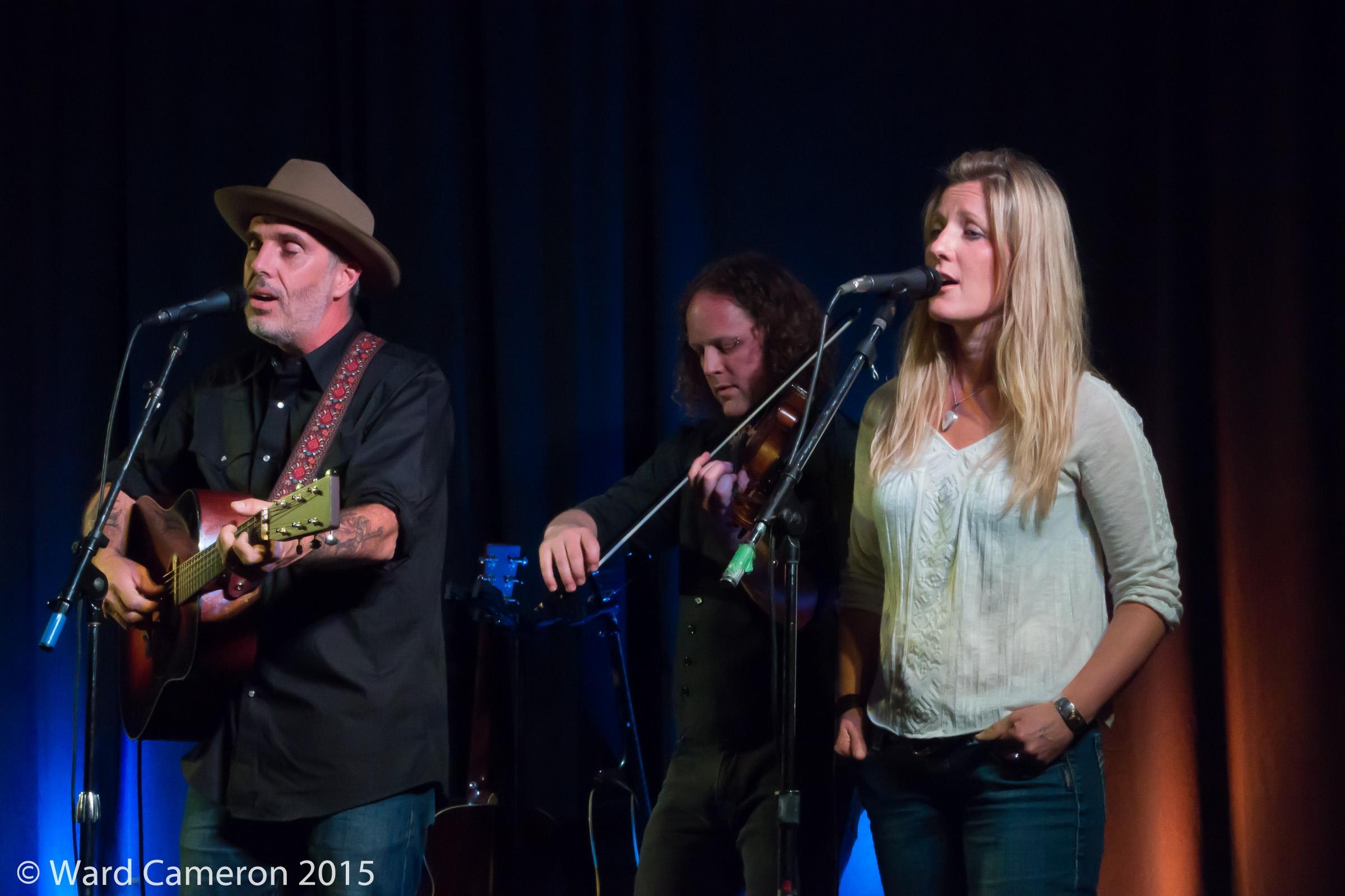 Julia with John Wort Hannam in concert