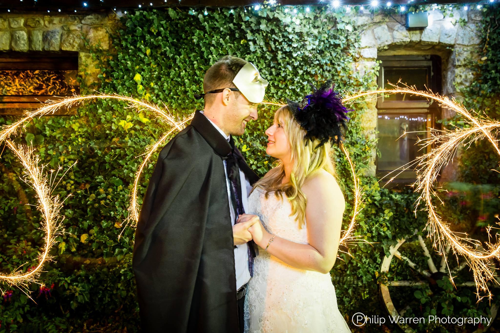 Night Wedding Photo Sparklers