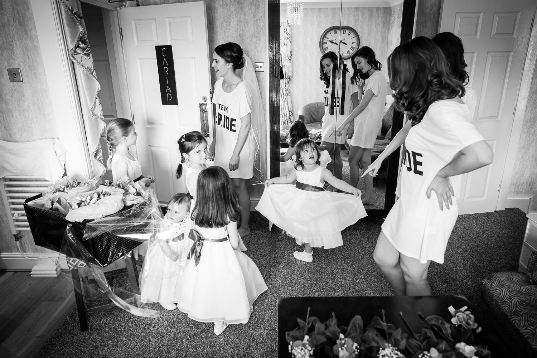 flower girls and team bride
