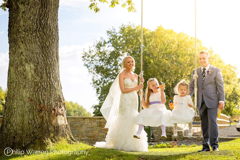 Family Photo at Wedding Canada Lodge