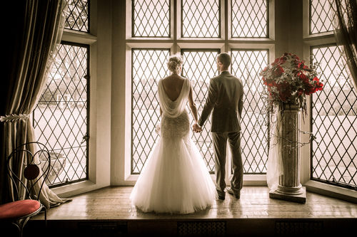 Sarah and Steve at Miskin Manor, Pontyclun
