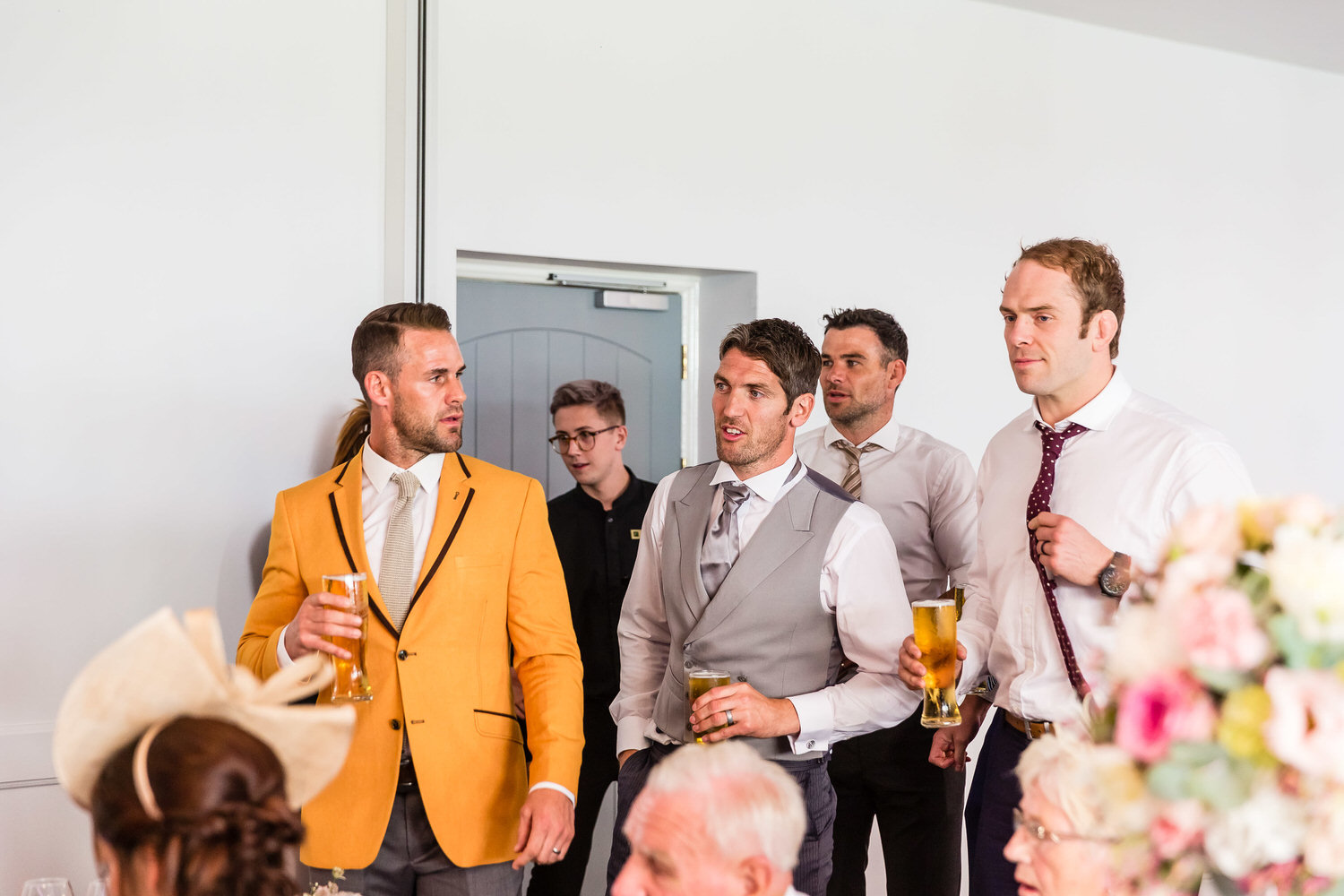 welsh rugby players at hensol castle wedding