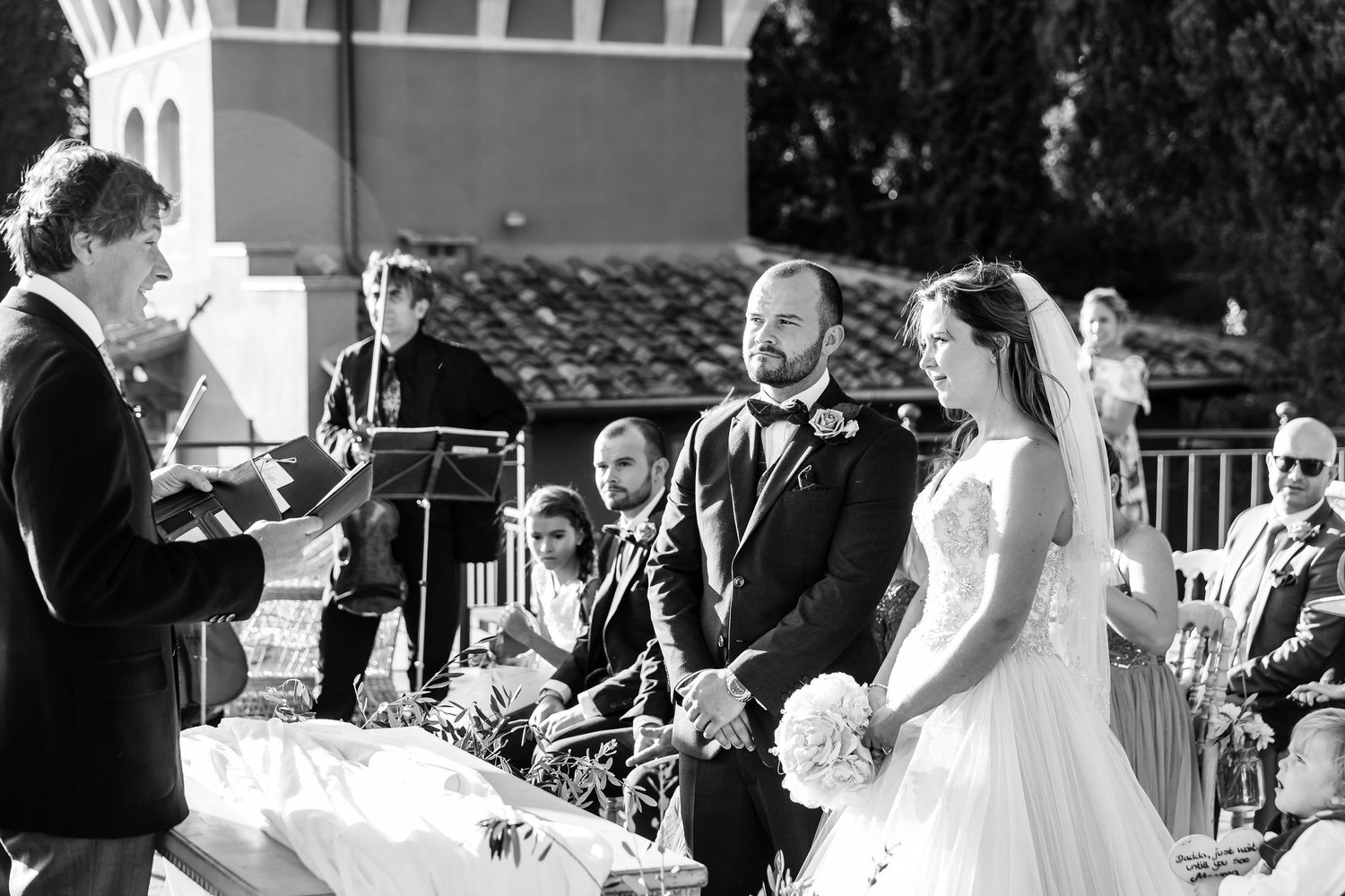 wedding ceremony at villa le fontanelle