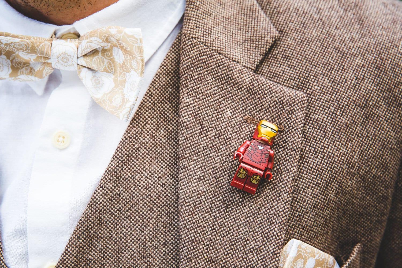 Lego Man Wedding Buttonhole