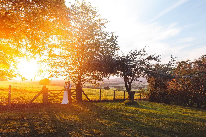 summer evening wedding photos in bristol