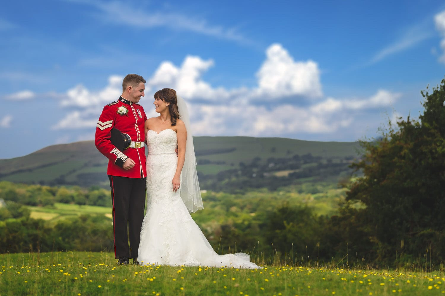 welsh guard with his bride