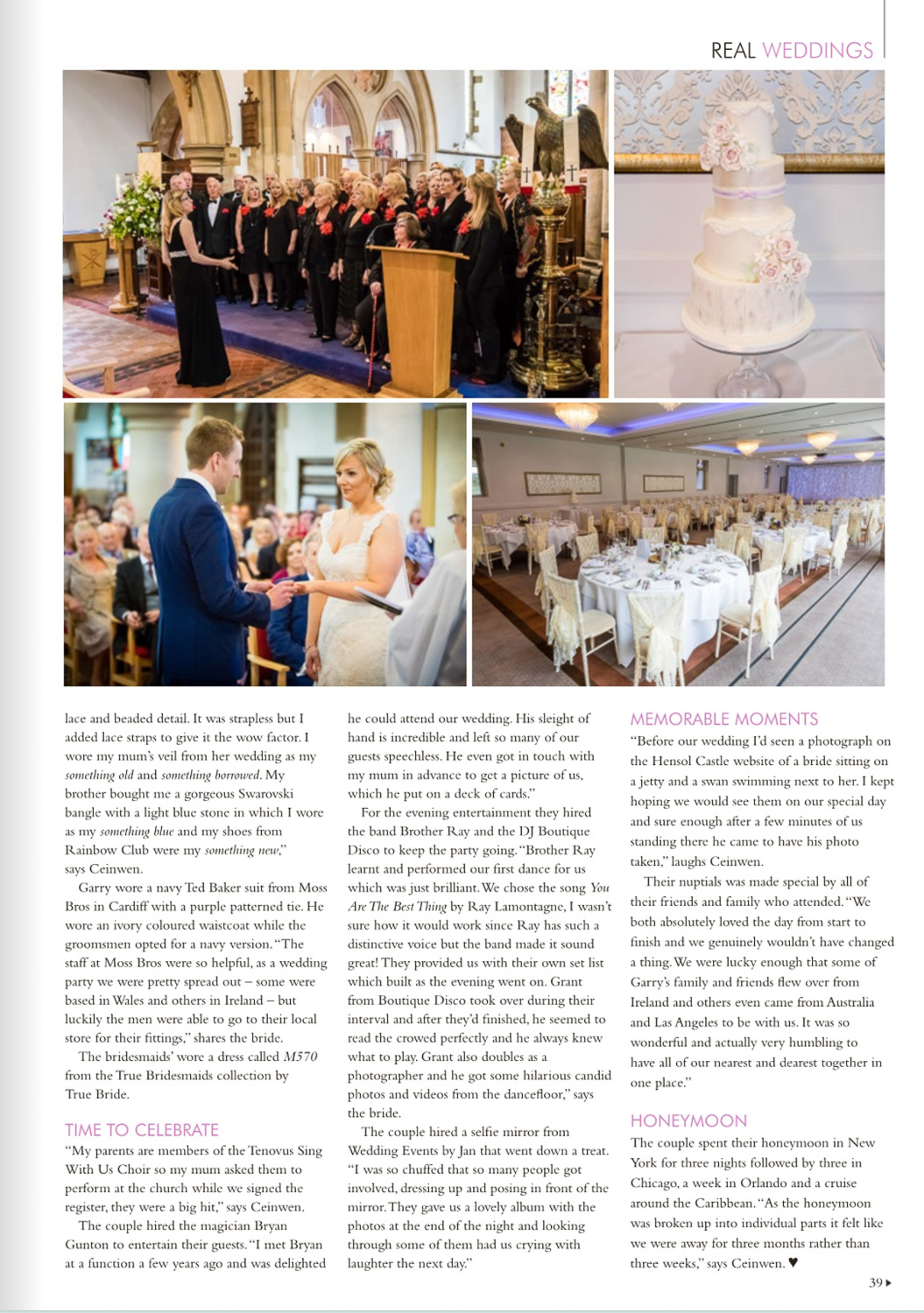 hensol castle wedding magazine feature