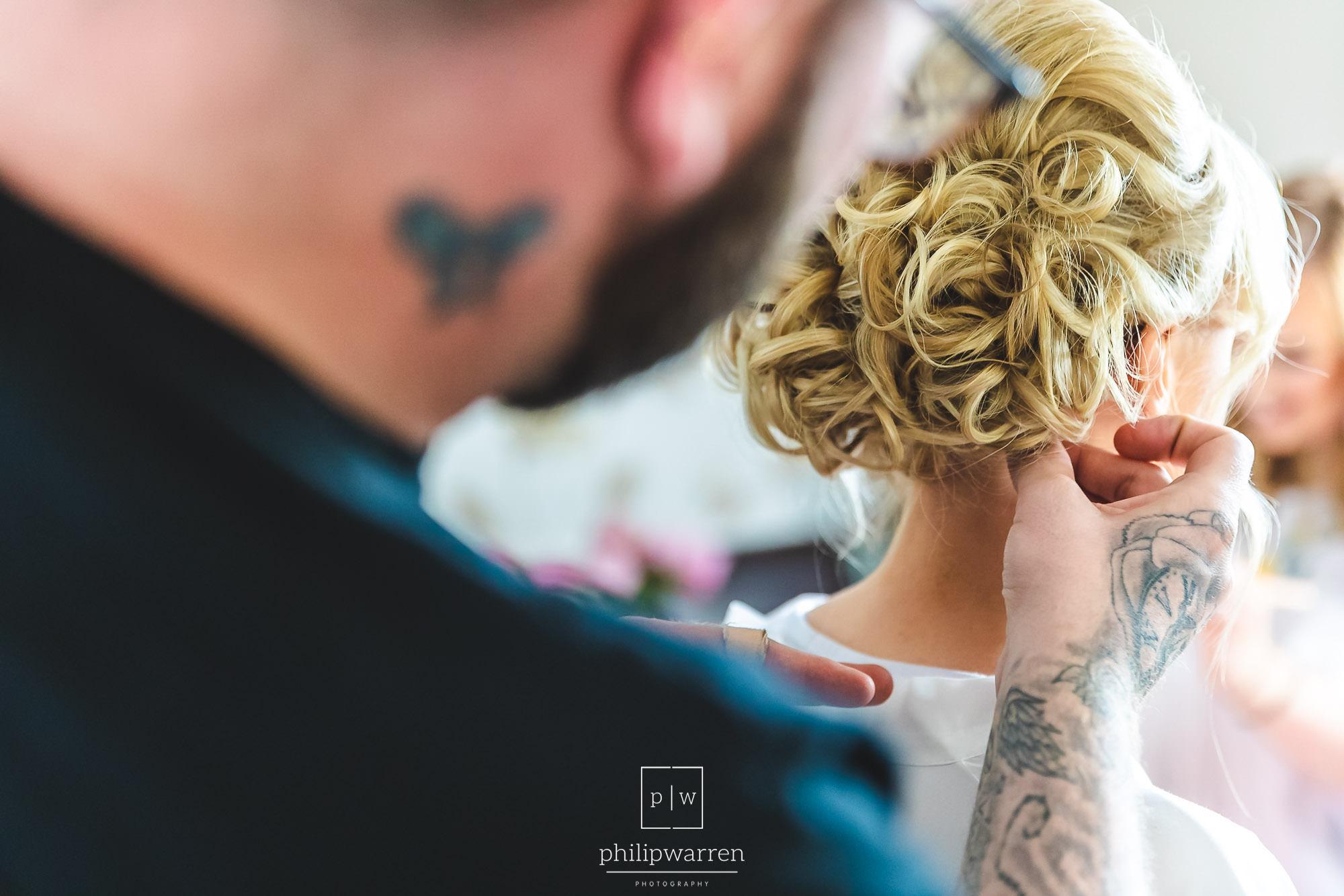 wedding hair up do by vanity hair lound