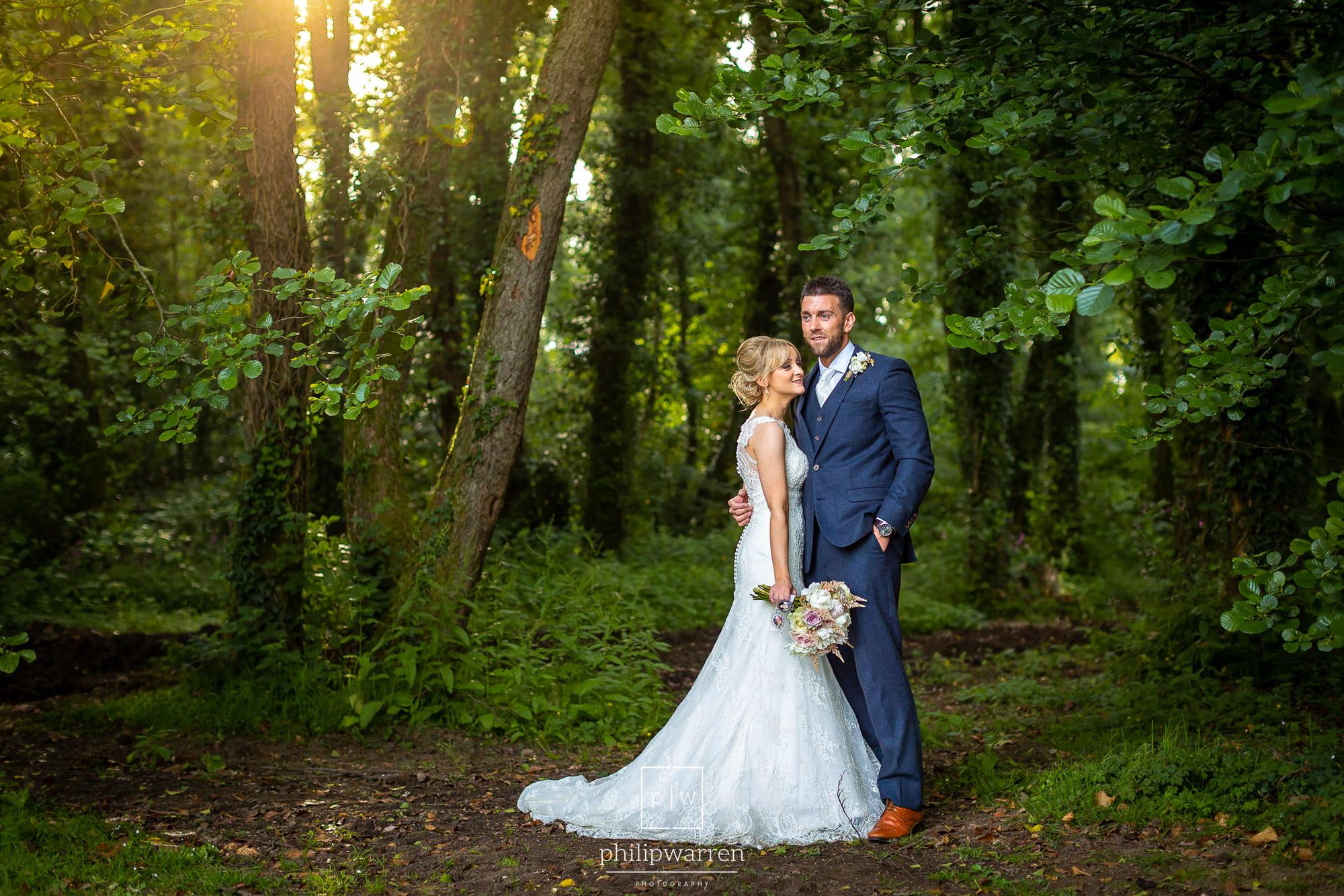 wedding photos in pencoed house estate woods