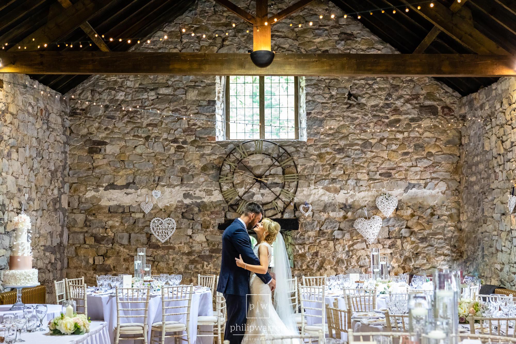 bride and groom in pencoed house wedding reception
