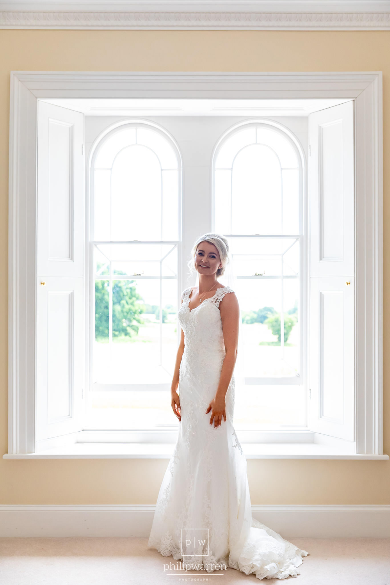 bride in the window in st tewdrics house