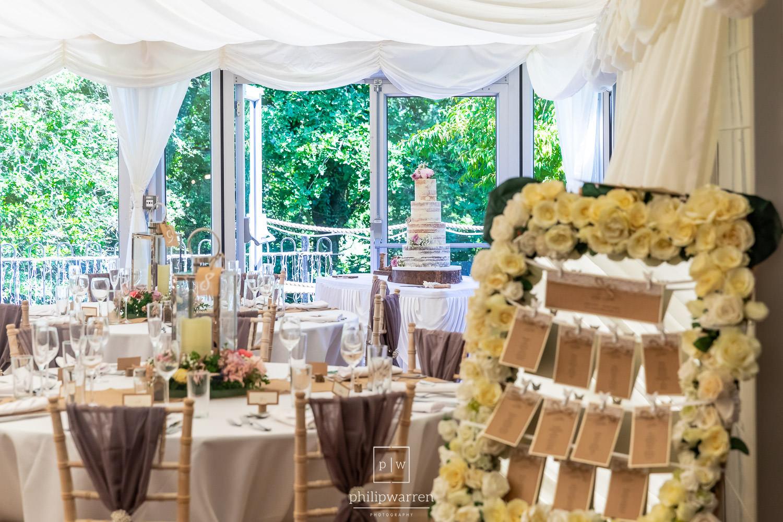 marquee set up at bryngarw house wedding