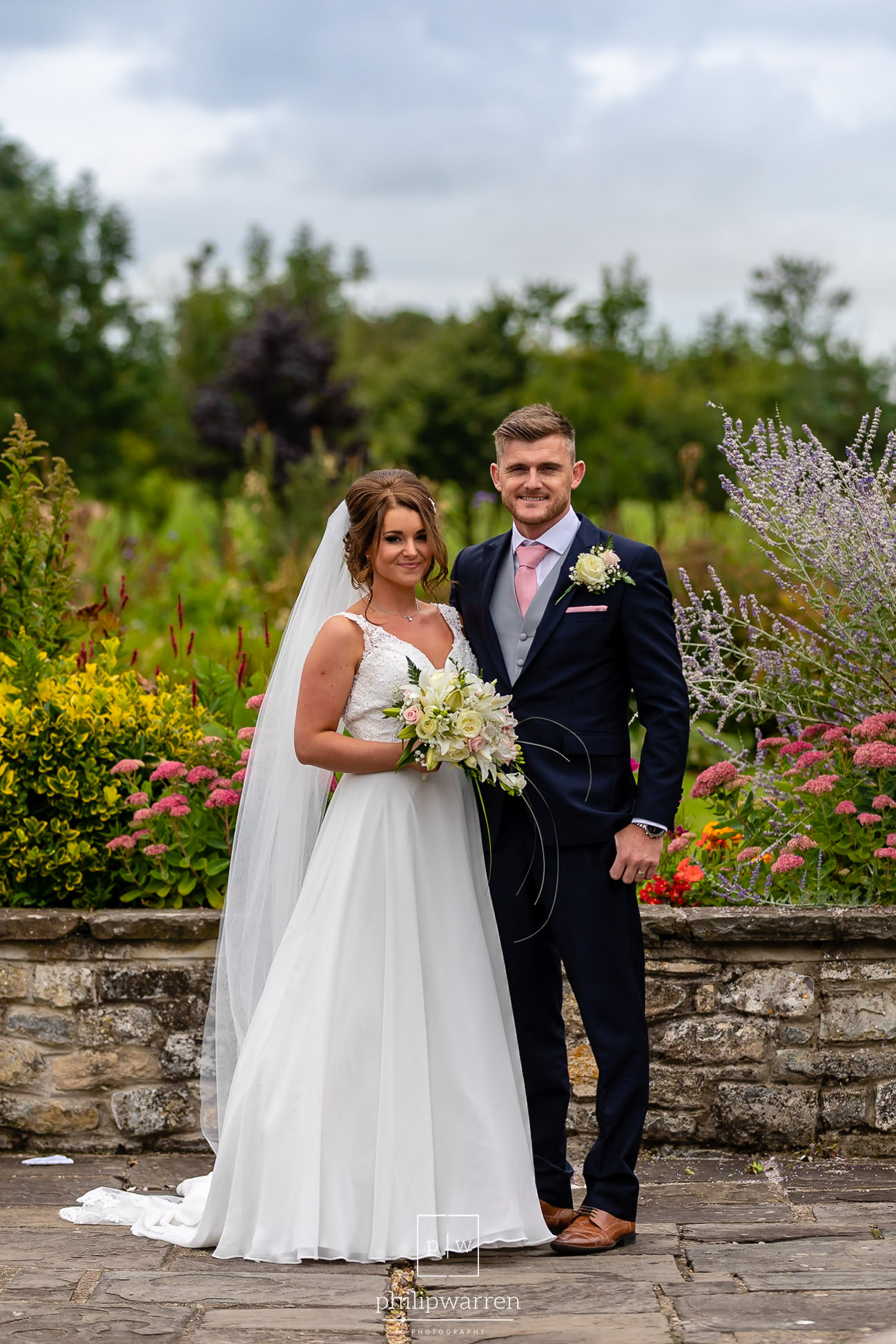 wedding photo of bride and groom at cottrell park wedding