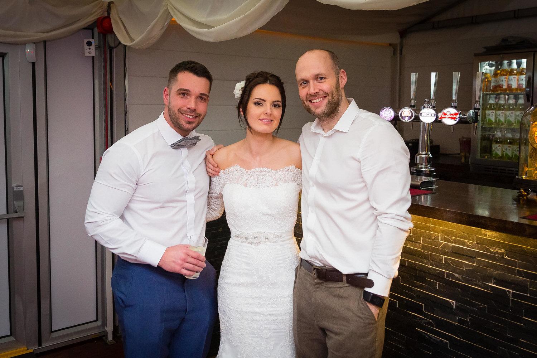selfie of philip warren and bride and groom