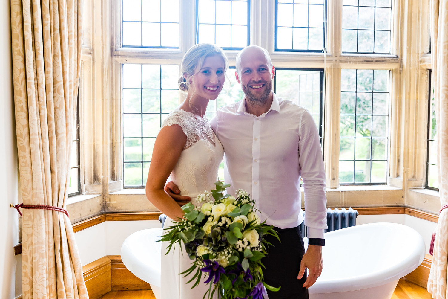me and the happy bride at coombe lodge
