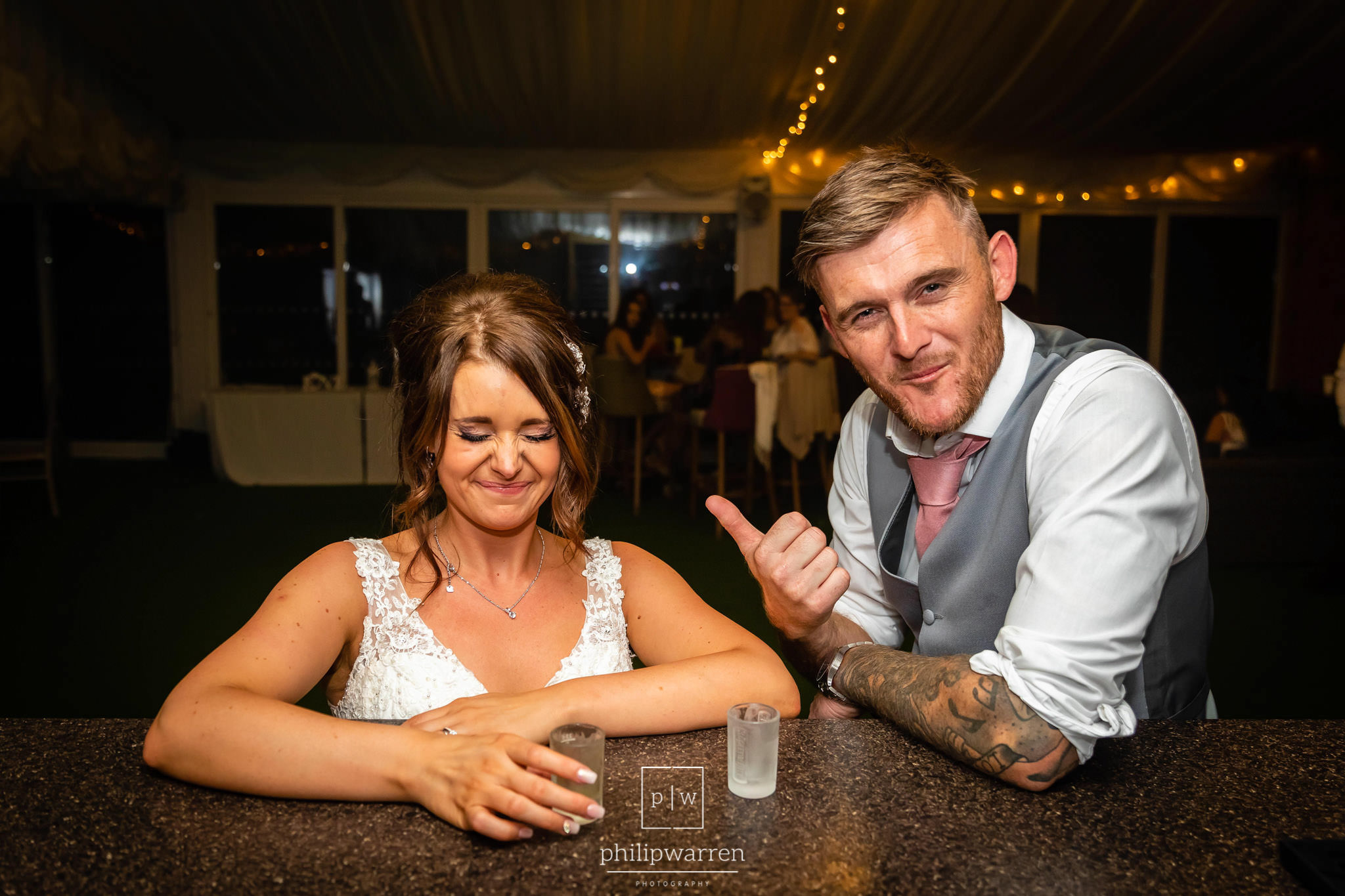 drinks at cottrell park wedding