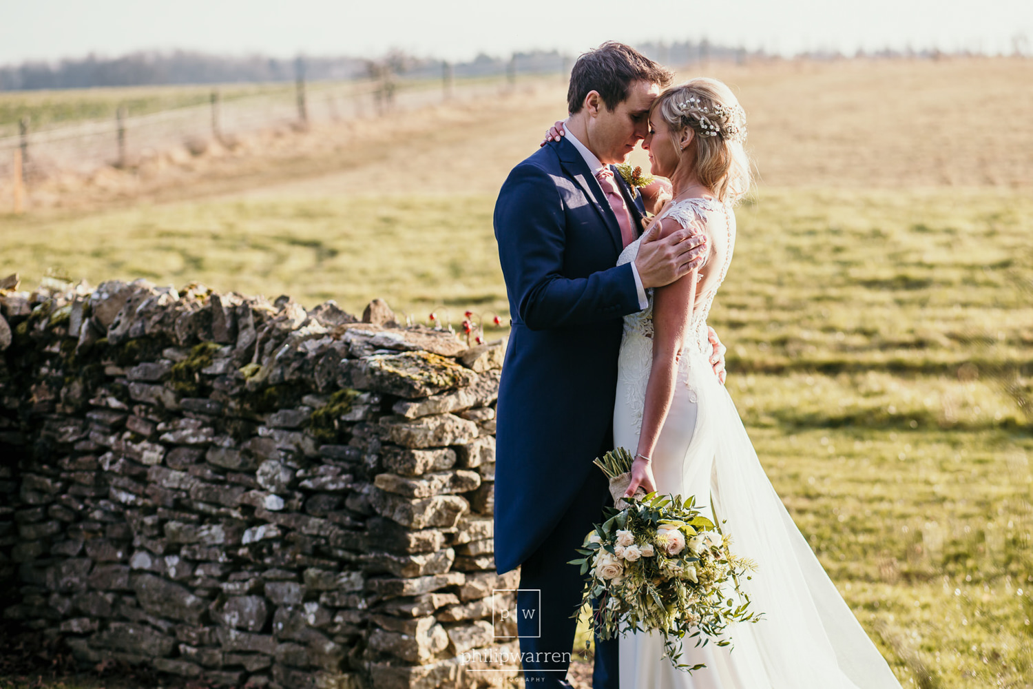 wedding photos outside cripps barn
