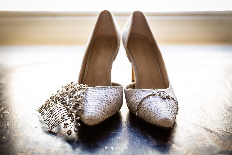 wedding shoes and jewellary