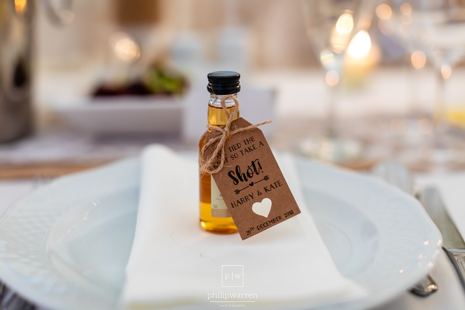 wedding favour at fonmon castle