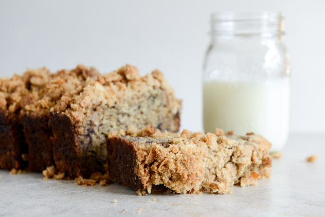 This loaf of bread by How Sweet It Is, literally made my mouth water http://www.howsweeteats.com/2013/02/whole-wheat-banana-bread-with-coconut-cinnamon-streusel/