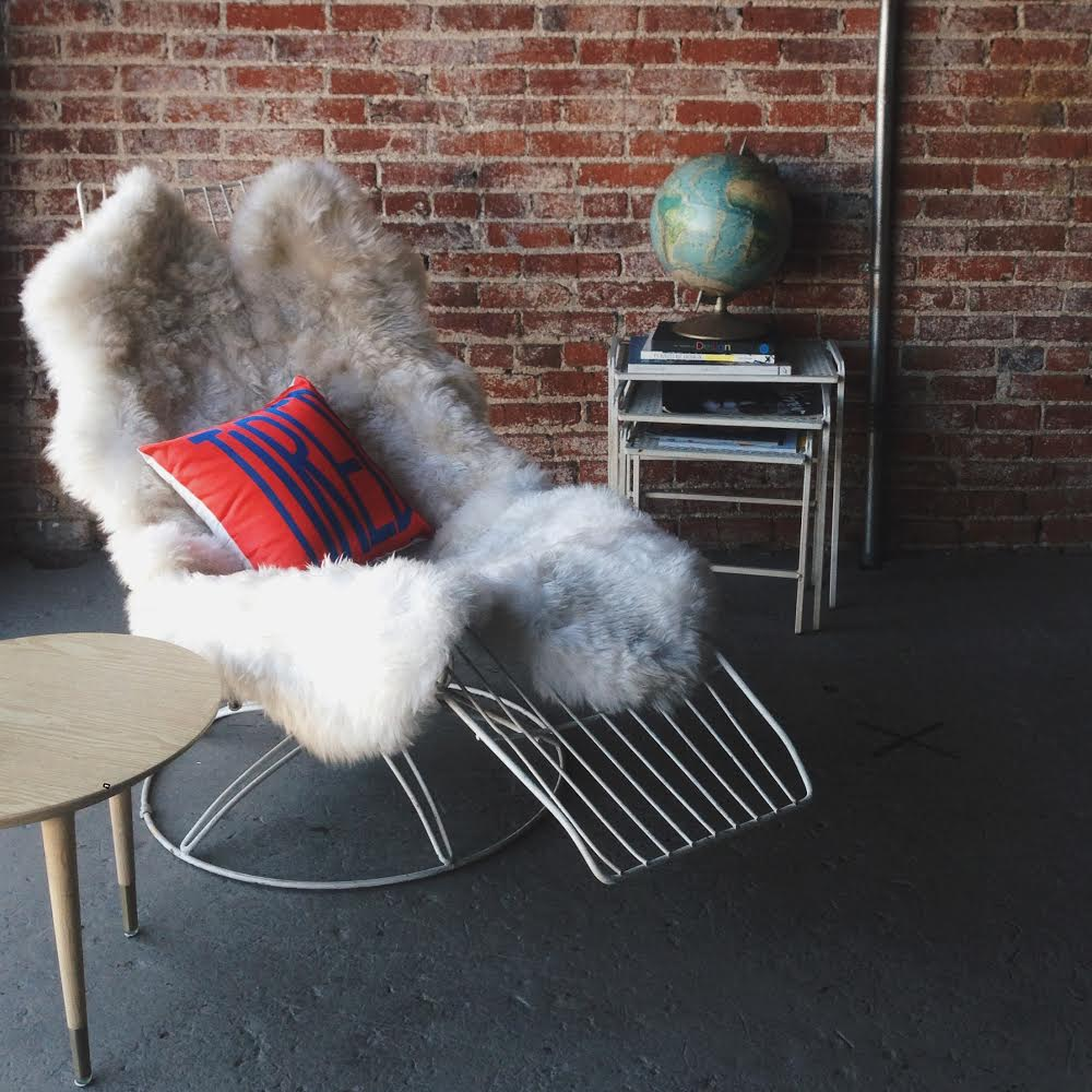 This chair/pillow really spoke to me while we were filming the other day...
