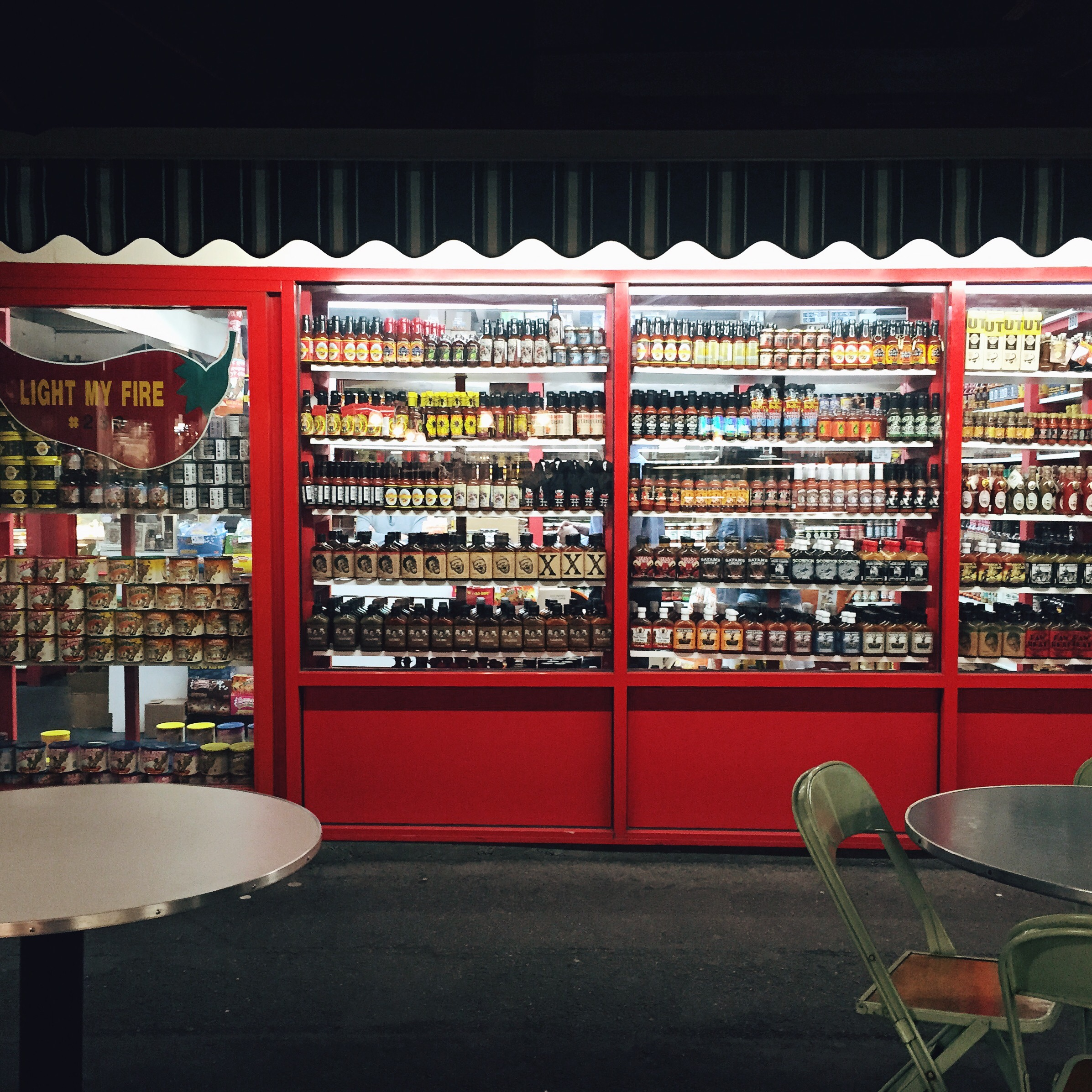 This is a store entirely comprised of Hot Sauce and Condiments... it is amazing.