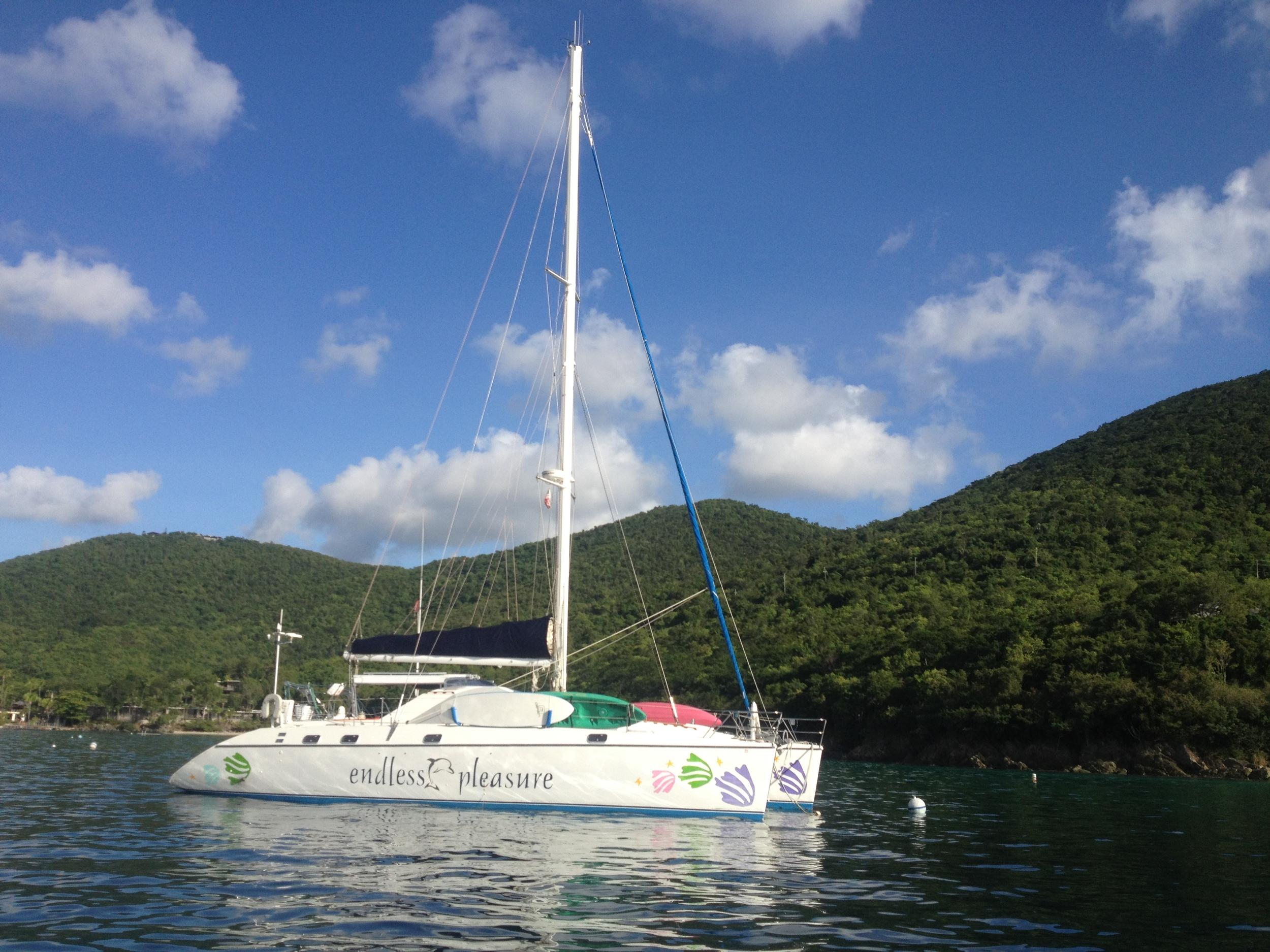Catamaran Endless Pleasure in Caneel Bay, St. John