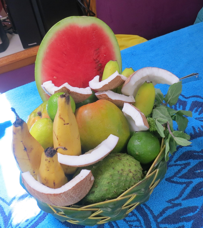 Locally grown produce, St. Lucia.
