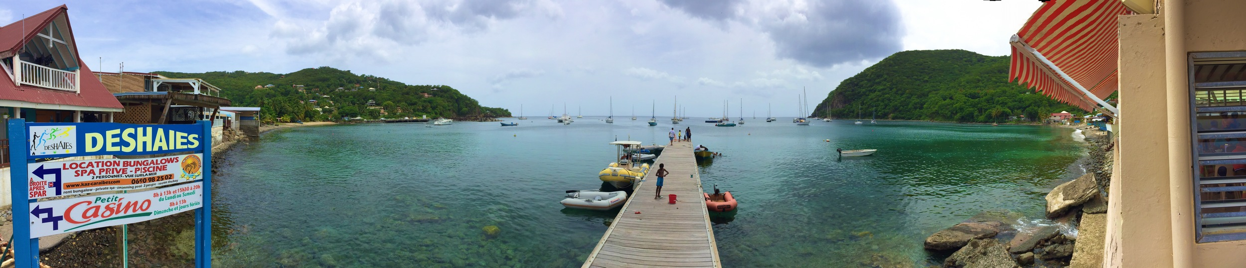 Anchorage in Deshais, Guadeloupe
