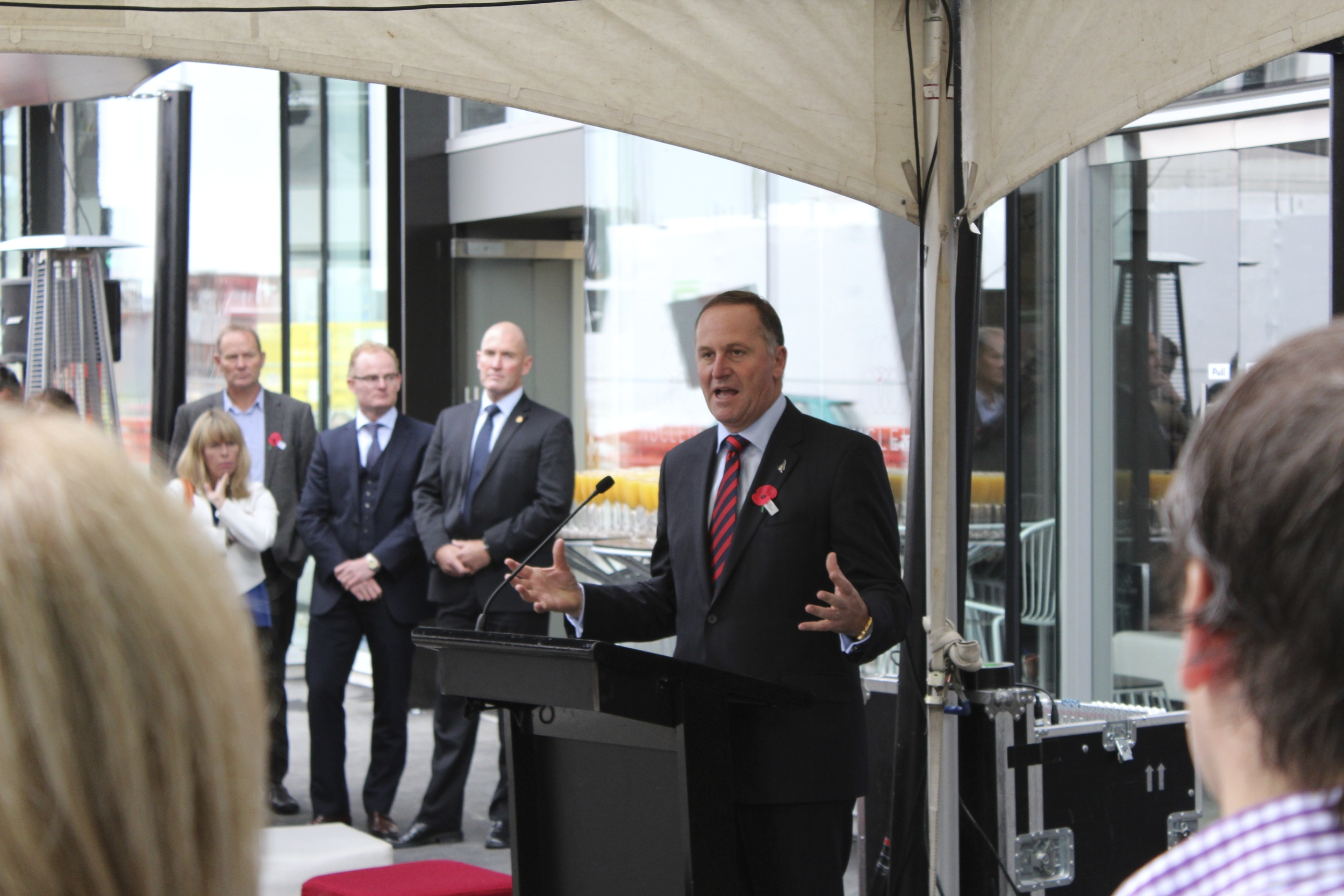 John Key spoke and cut the ribbon to open the new building.
