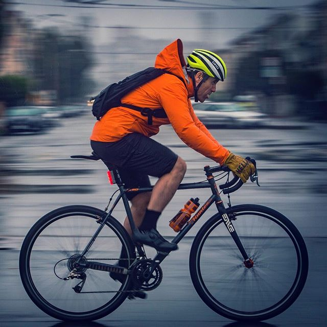 Just keep swimming . . . #bike #ride #commute #rain #wet #pan #panshot #speed #determination #sanfrancisco #photoshoot
