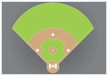 A baseball field.
