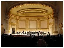 Carnegie Hall stage (source: Wikipedia)