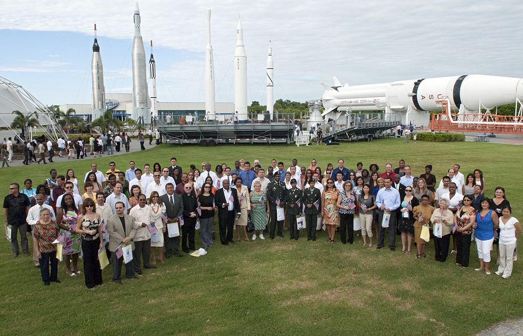 Naturalization ceremony, Kennedy Space Center