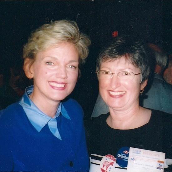 My friend Deb Havens (right), pictured with Michigan Gov. Jennifer Granholm, recently ran for Michigan State Senate.