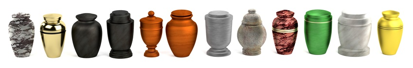 Cremation urns come in many shapes, colors, and materials, including metal, ceramic, and wood. They may be displayed or kept in a private pace in the home. Some urns are also buried or placed in a mausoleum.