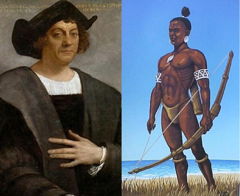 L: C. Columbus, R: adult Taino male