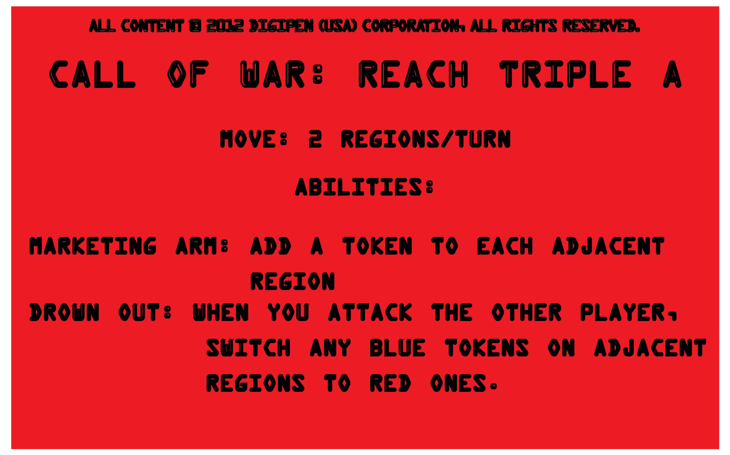 Player Card: Call of War: Reach Triple A