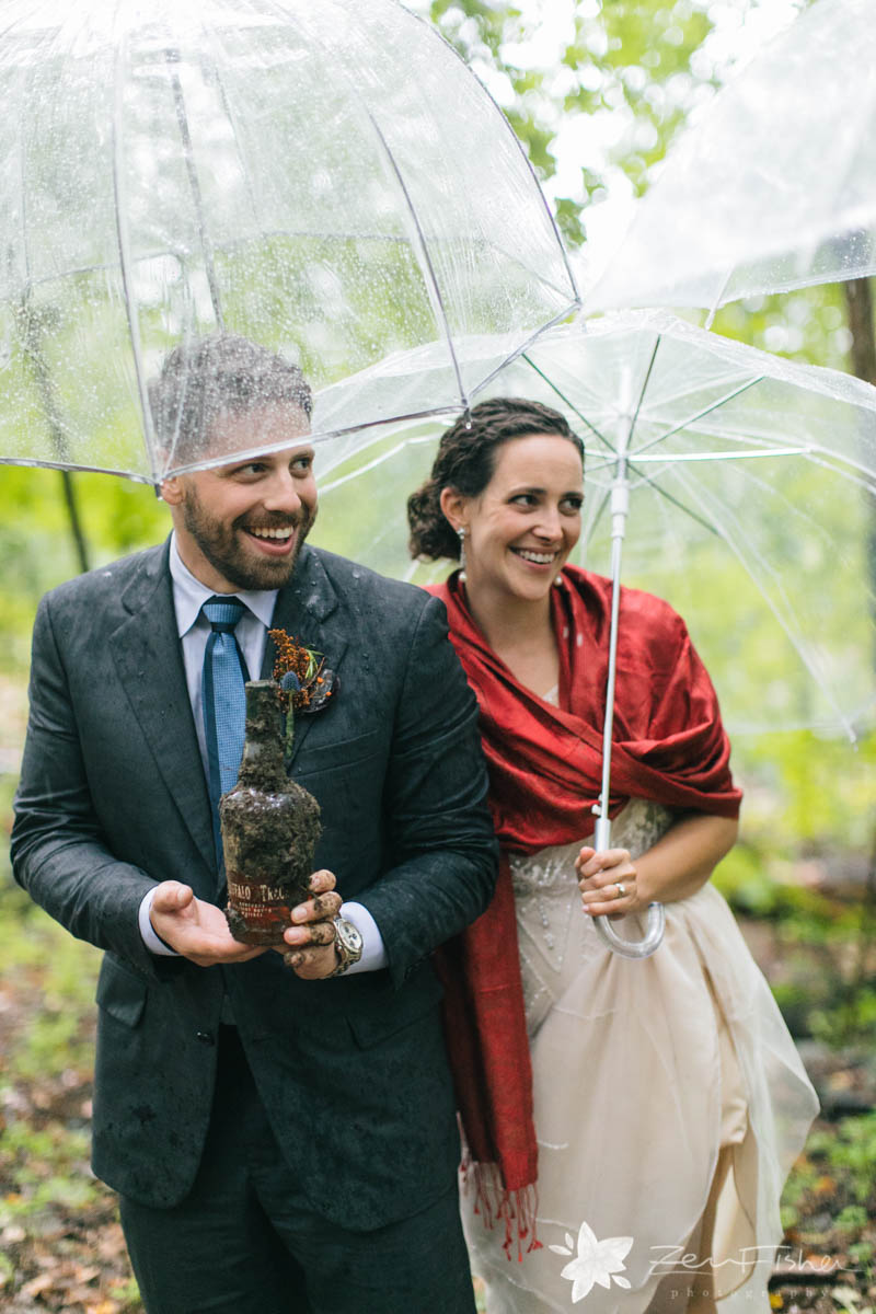 Jessica looks stunning wrapped in the gorgeous Silk Jamavar at her New England Fall wedding