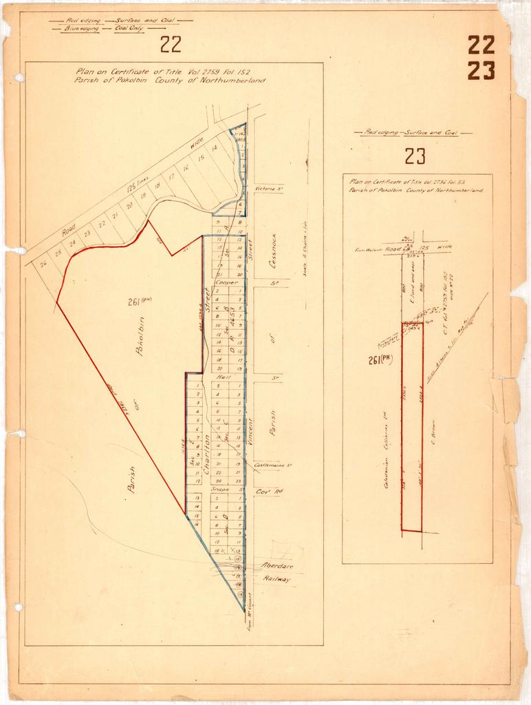 A 1920s map of the Parish of Pokolbin