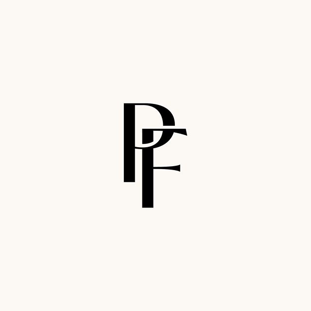I always love when I have the chance to create a simple monogram for clients