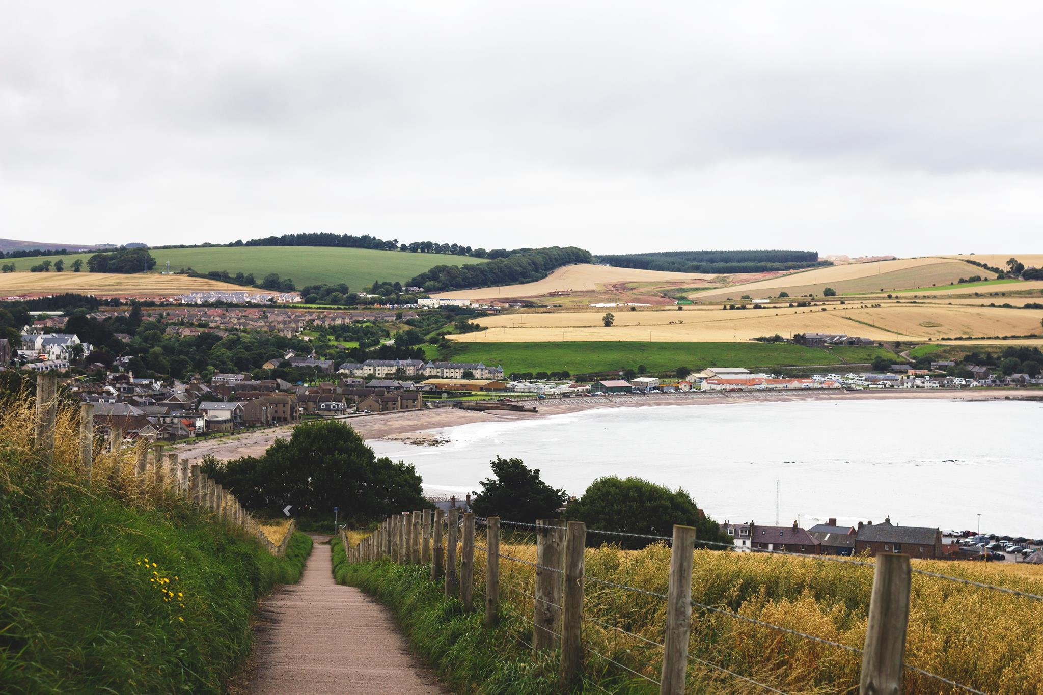 The walk from Dunnottar Castle to Stonehaven