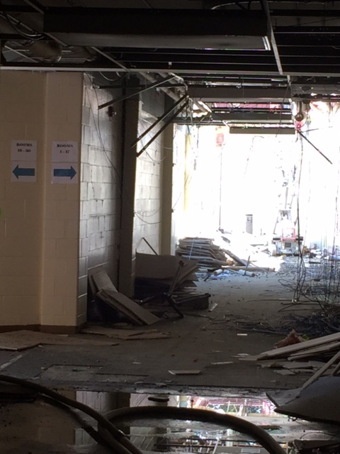 From Gym C looking toward Former English wing