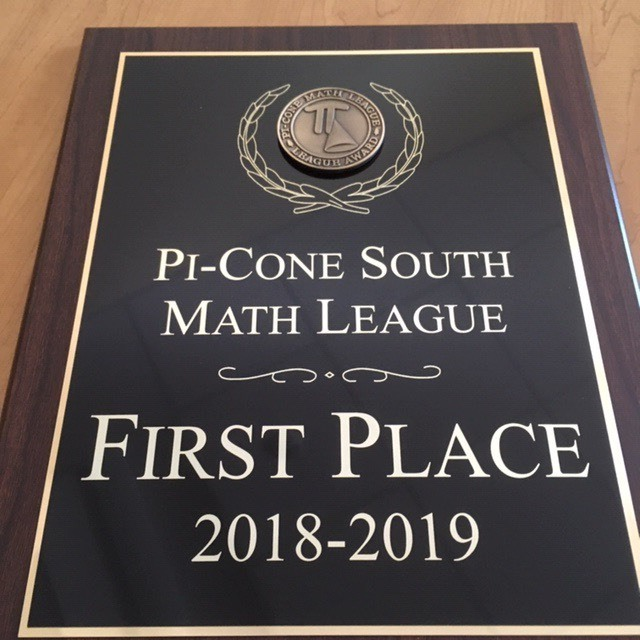 Pi-Cone First Place Plaque