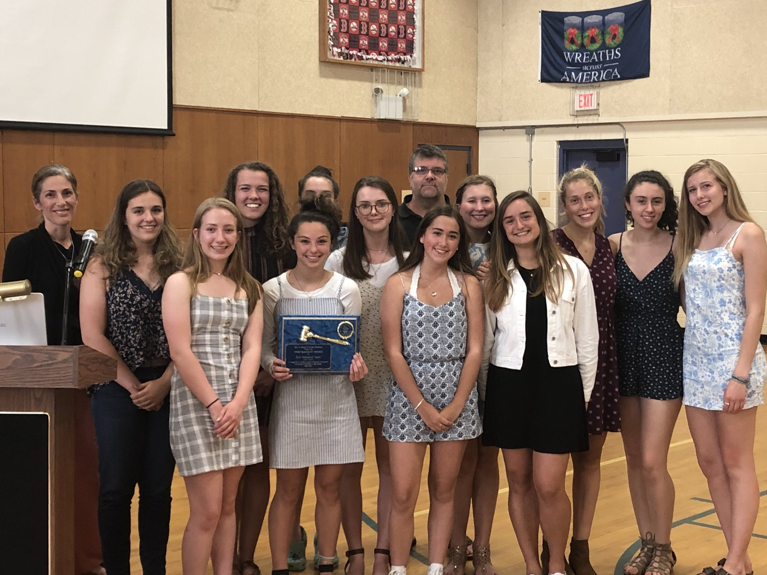The Girls Volleyball Team received the Sportsmanship Award.